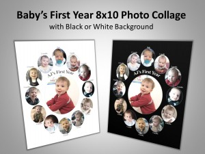 Baby's First Year Photo Collage Image