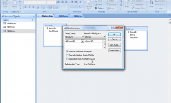 Microsoft Access Relationship: Cascade Delete