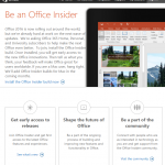 Go to the Office Insider Website