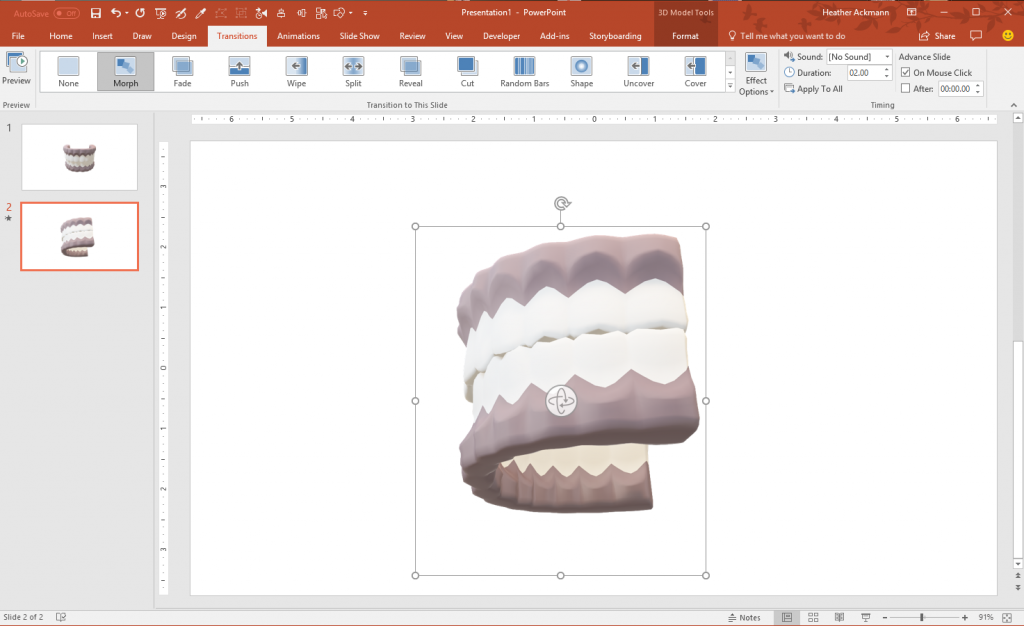 Rotate 3D Model in PowerPoint