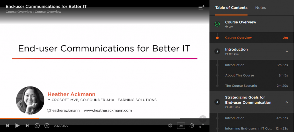 Course Preview End-user Communication for Better IT from Pluralsight by Heather Ackmann