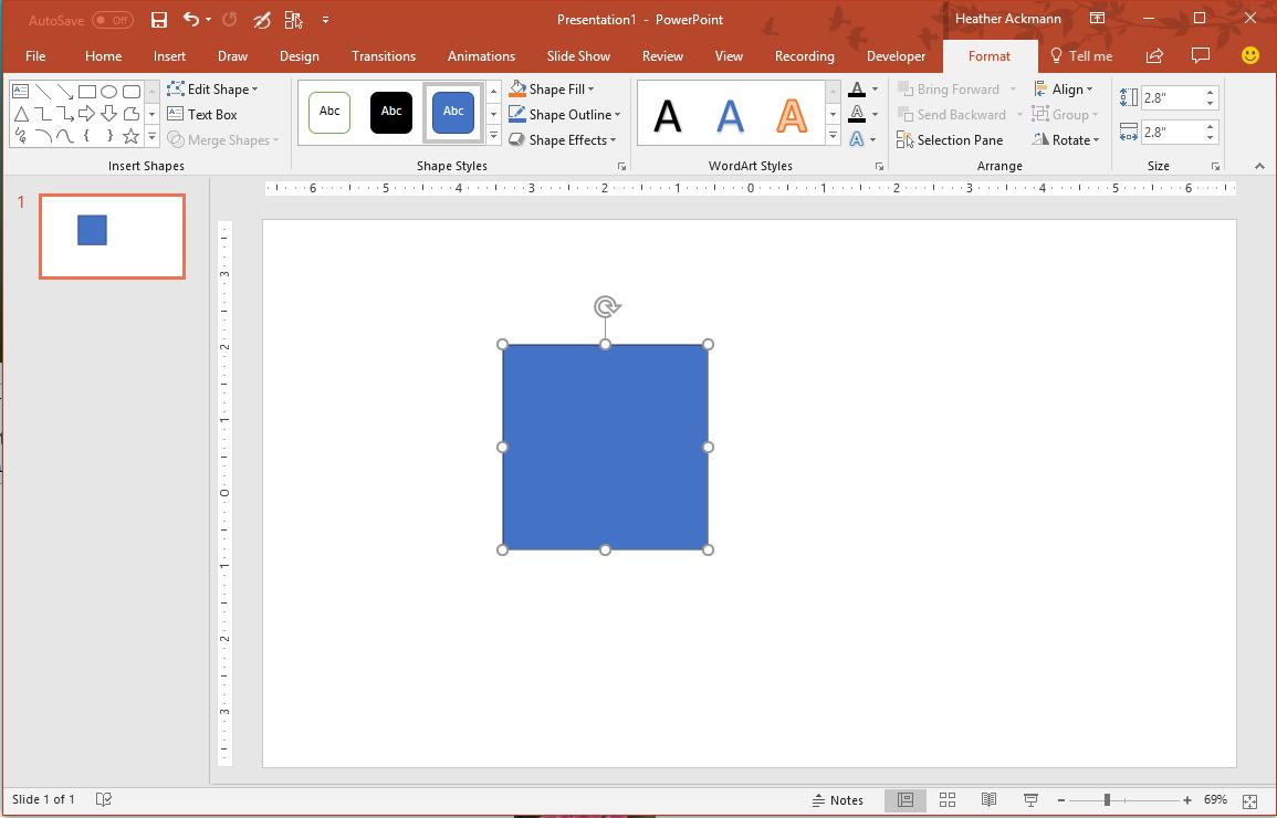 Select blue square