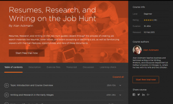 Resumes, Research, and Writing on the Job Hunt